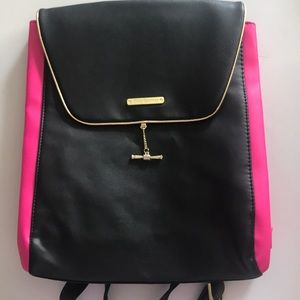 JUICY COUTURE PINK AND BLACK BACKPACK